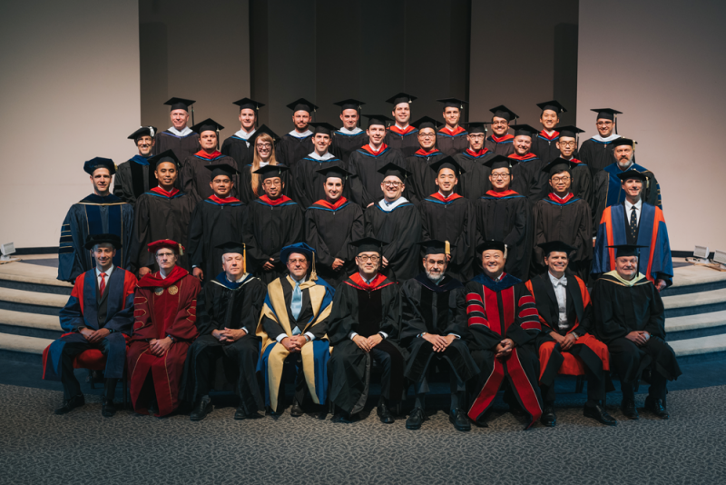 The graduating class of 2018 with WSC faculty