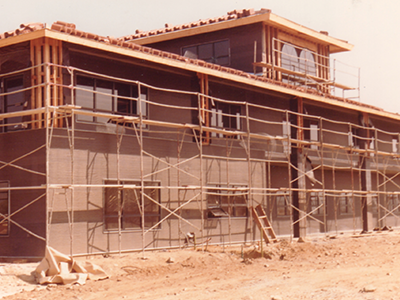 Construction of campus library